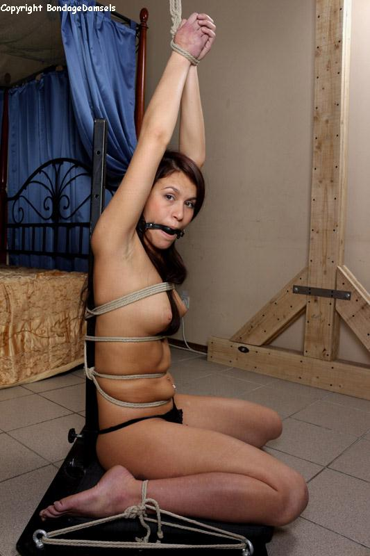 Pole tied gagged
