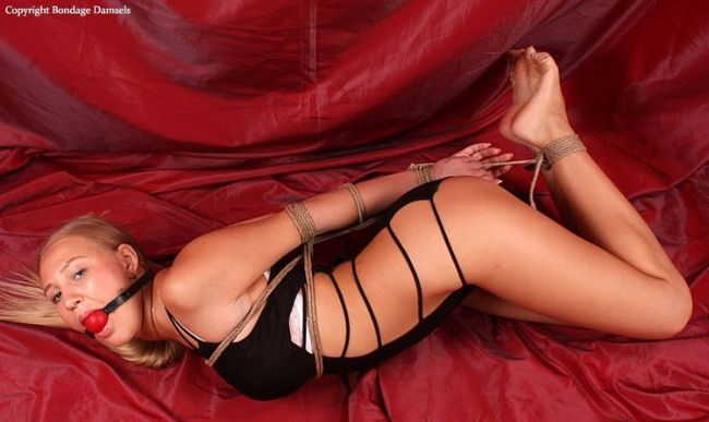 Nancy Hogtied and Barefoot